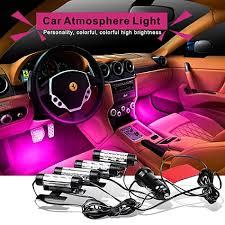 Car Interior Blue Lights Car Styling 4x3led 12v4w Glow Car Interior Lighting Decorative