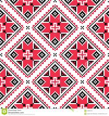 ukrainian traditional folk knitted embroidery pattern stock