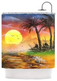 Kess Shower Curtains Kess Inhouse Infinite Spray Art
