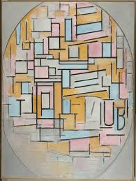 piet mondrian composition in oval with colour planes 2 1914