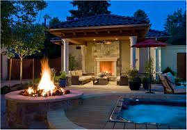 Outside Backyard Ideas Backyards Wondrous Small Backyard Fire Pit Small Outdoor Propane