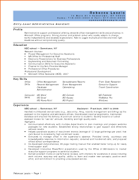 Entry Level Management Resume Examples by Entry Level Administrative Assistant Resume Sample Free Resume