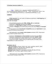 Sql Developer Resume Sample by Sample Web Developer Resume 7 Free Documents Download In Word Pdf