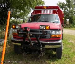 Ford F350 Dump Truck With Plow - 1997 ford f350 super duty xl dump bed pickup truck item dc