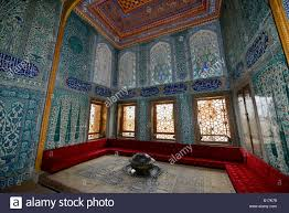 twin pavilion apartments of the crown prince with sofa and iznik