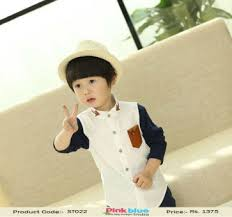 smart black and white party wear shirt for kids baby boys casual