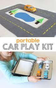 my boys will love this make a diy portable car play kit mama