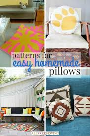 40 patterns for easy homemade pillows and cushions