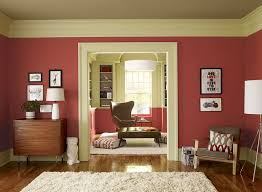 small living room paint color ideas crisp coral living room parrot 1308 walls guilford green