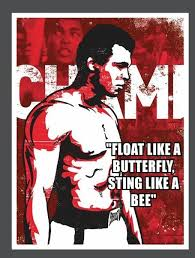 muhammad ali t shirt float like a butterfly sting like a bee