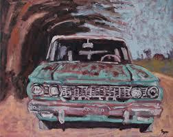 sale turquoise rambler painting original oil art man