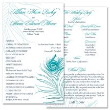 peacock wedding programs image result for http www tgkdesigns photos 0001 3894