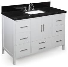 California Bath Vanity Contemporary Bathroom Vanities And Sink - Bella 48 inch bathroom vanity white