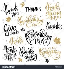 vector set lettering thanksgiving day stock vector 488514838