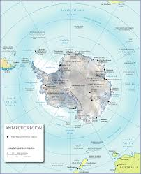 Us And Canada Physical Map by Antarctica Atlas Antarctica Maps Antarctica Region Maps