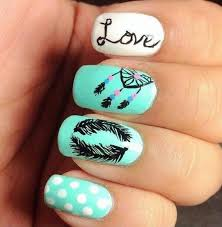 cute feather nail designs for 2017 styles art nails