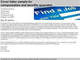 Benefits Specialist Resume Sample by Compensation And Benefits Specialist Cover Letter Samples And