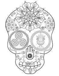 sugar skull coloring book launch free printable coloring