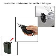 rubber 6mm manual fuel bulb hand pump inline fuel pipe for car