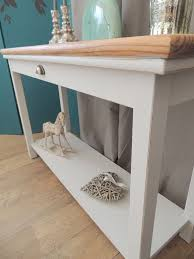Shabby Chic Console Table Lovely Shabby Chic Console Table In Farmhouse Style Eclectivo