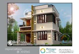 1328 Sq Ft Modern Double Floor Home Designs Home Interiors