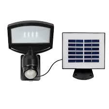 Solar Security Motion Sensor Light by Shop Utilitech Pro 180 Degree 1 Head Black Solar Powered Led