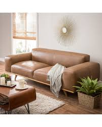 New Leather Sofas For Sale Deal Alert Dante Italian Oxford Leather Sofa