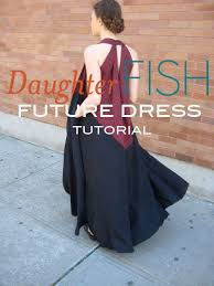 Draped Skirt Tutorial The Future Dress Tutorial Daughter Fish