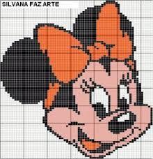 minnie mouse c2c graphgan pattern crochet graph perler beading