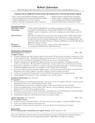 Technical Support Resume Template Cover Letter Network Administrator Resume Examples Network