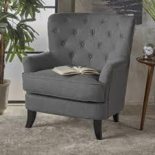 Chas Armchair Where Did You Get Your Gray Tufted Chairs Hymns And Verses