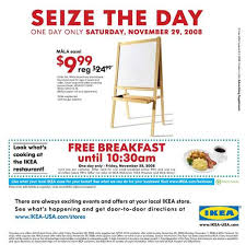 www ikea usa com free breakfasts to entice shoppers black friday ads for the recession
