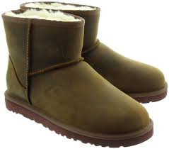 womens style boots australia ugg mini leather boots in chestnut in chestnut