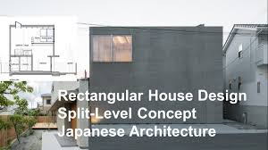 rectangular house design split level concept japanese architecture