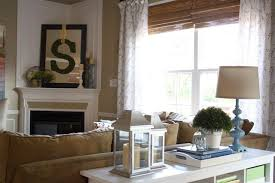 Decorating Sofa Table Behind Couch by Sofa Table Decor Family Room Traditional With Console Table Cream