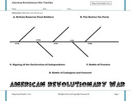 revolutionary war worksheet worksheets