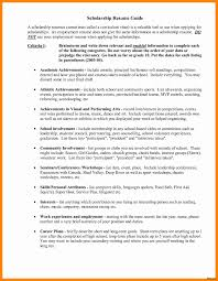 scholarship resume template college scholarship resume scholarship resume templates