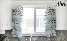 Ruffled Kitchen Curtains Kitchen Curtains Creepingthyme Info