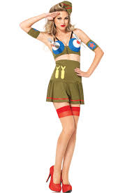 Army Costume Halloween Bomber Costume Halloween Costumes Pinup