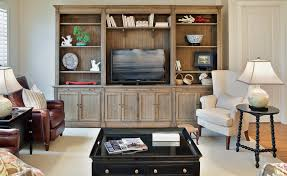 reclaimed wood entertainment center living room traditional with