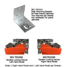 drawer slide locking mechanism tandem plus drawer slides by blum hardwaresource