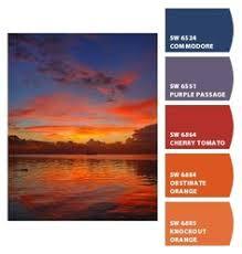 golden sunset golden orange umber yellow pastel blue blue