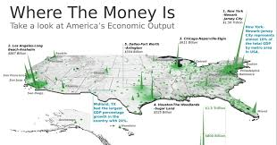 Map Of Los Angeles Area This 3d Map Visualizes The U S Economy In A New Way