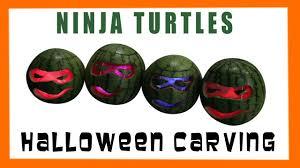tmnt halloween carving teenage mutant ninja turtles watermelon