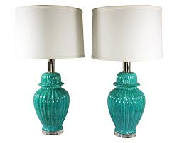 Ginger Jar Table Lamps by Paul Hansen Turquoise Ginger Jar Lamps A Pair Chairish
