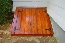 exterior design classic black basement door by bilco doors for