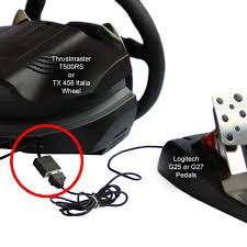 458 italia thrustmaster adapter for thrustmaster wheel to logitech pedals