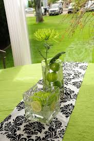 lime green table runner damask lime green wedding cute table decor lime black