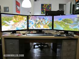 3 Monitor Computer Desk Glennmoller New Pc Gaming Rig With Eyefinity 3 Monitor Setup