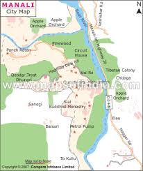map for manali